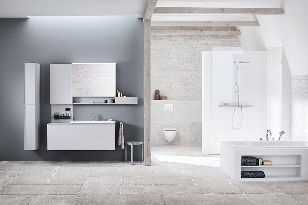 Geberit Acanto Wall-mounted, Washdown Rimless Toilet in White
