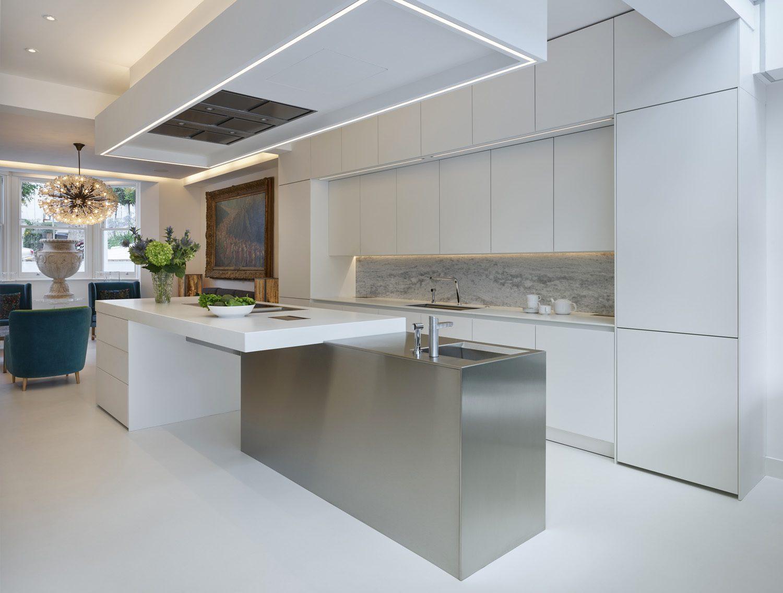 White Handless Kitchen Nicholas Anthony