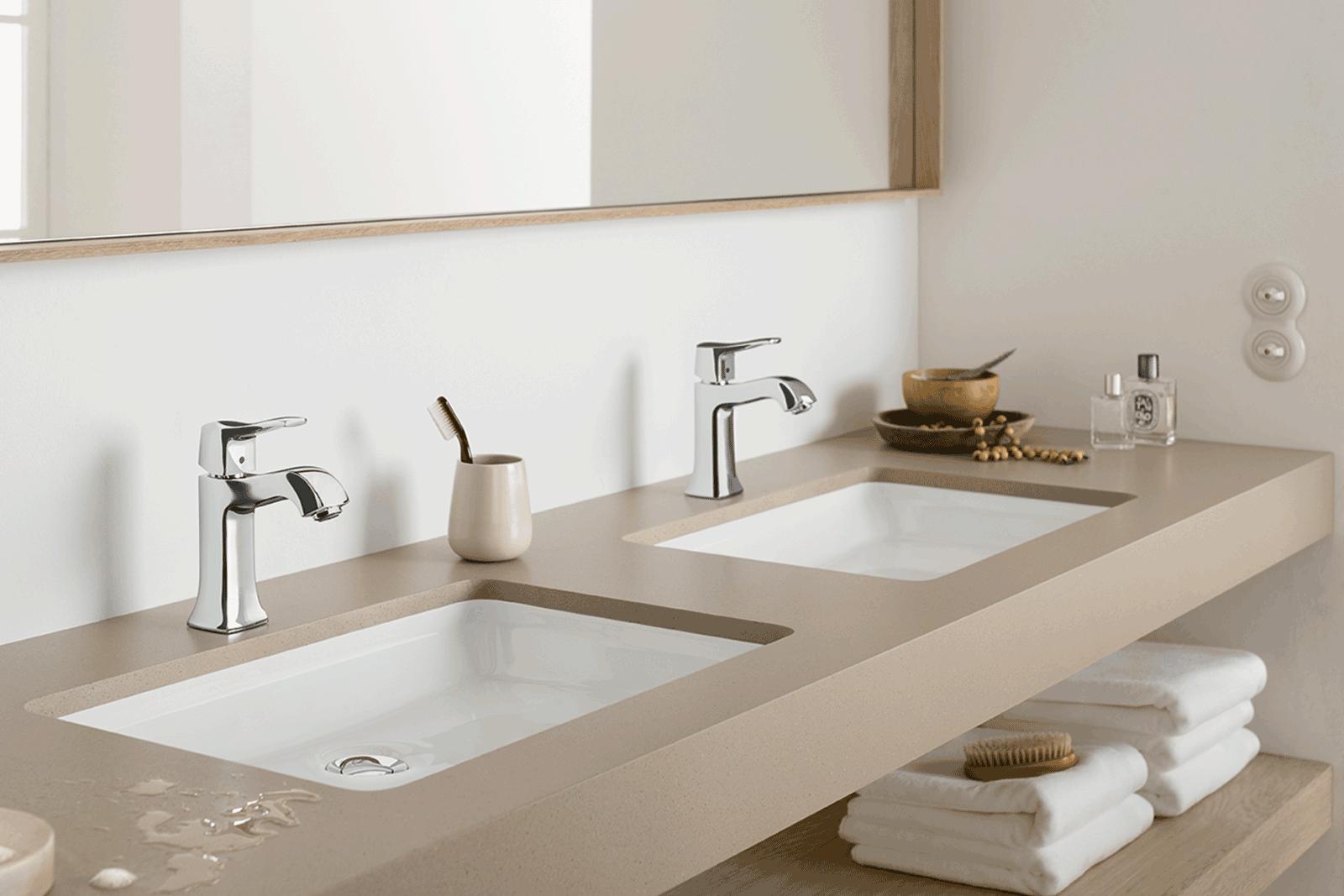 Hansgrohe Metris bathroom sinks