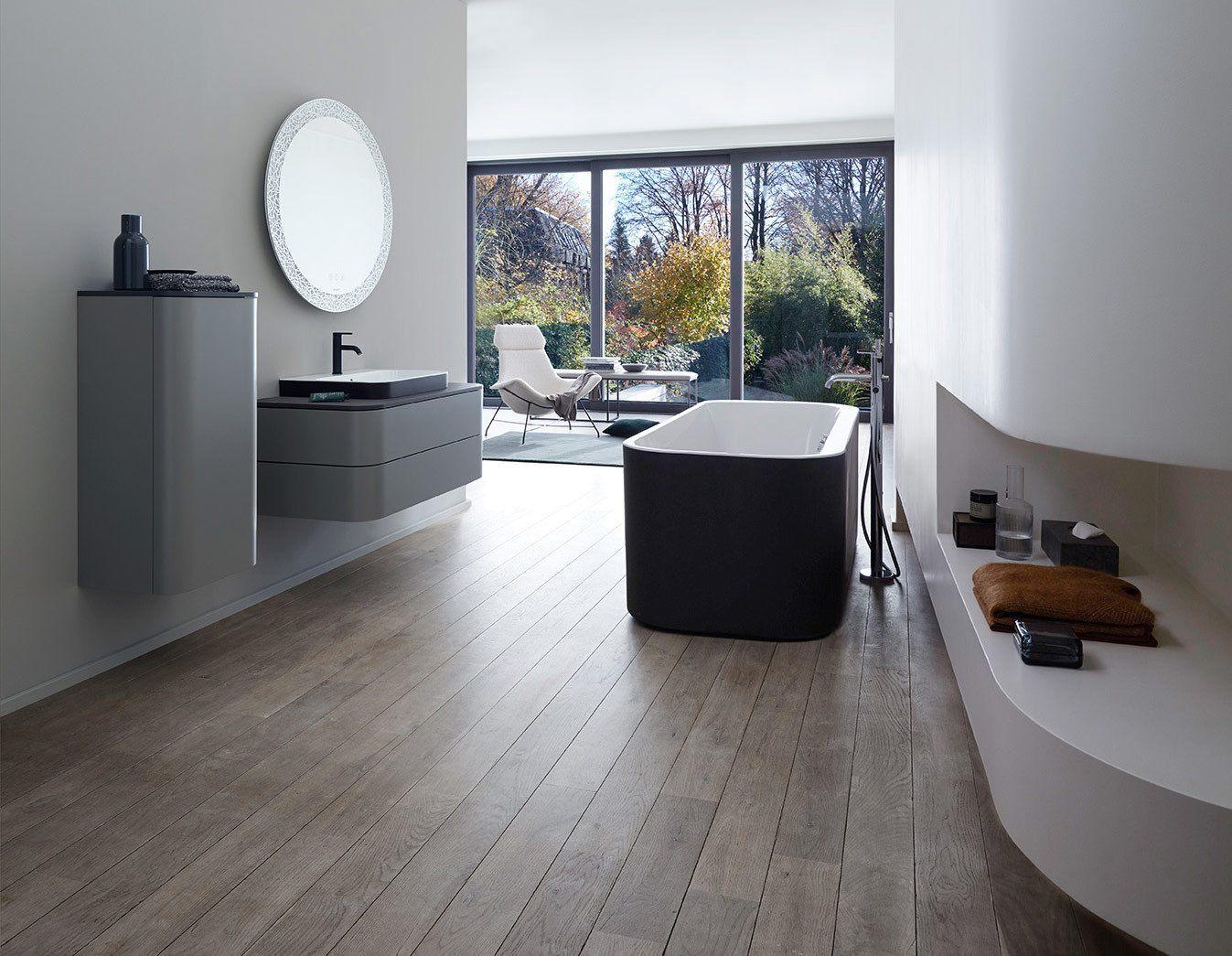 Duravit Happy D2 Freestanding Bath in high end bathroom